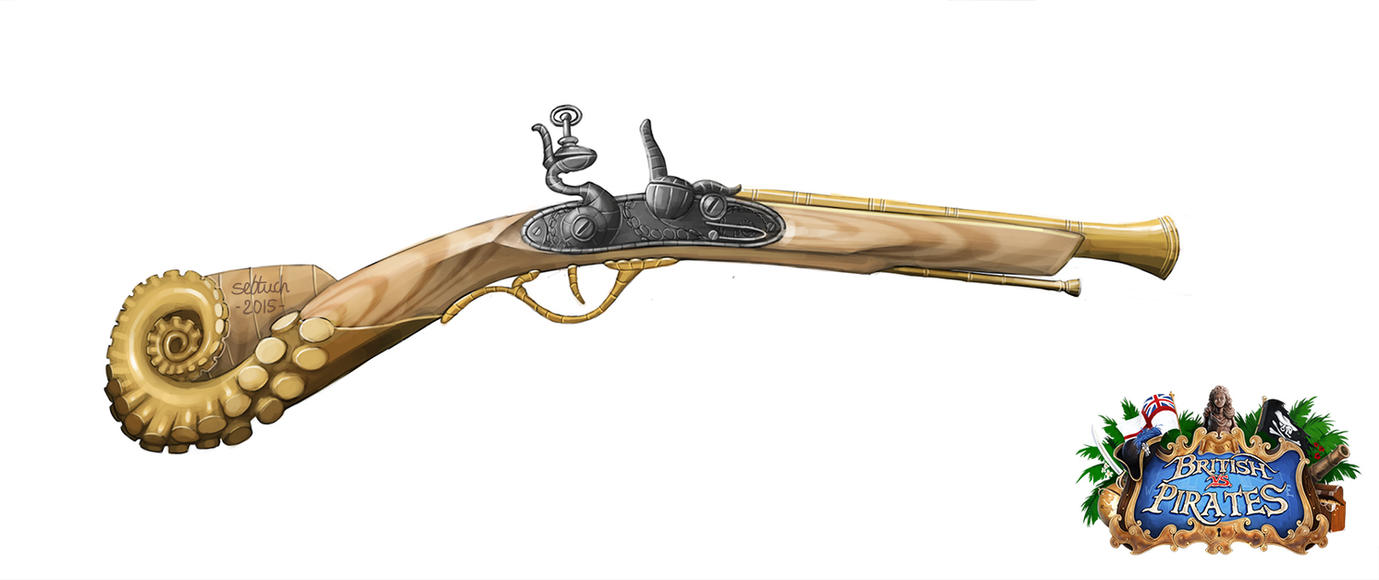 Deluxe Flintlock Blunderbuss by sebtuch