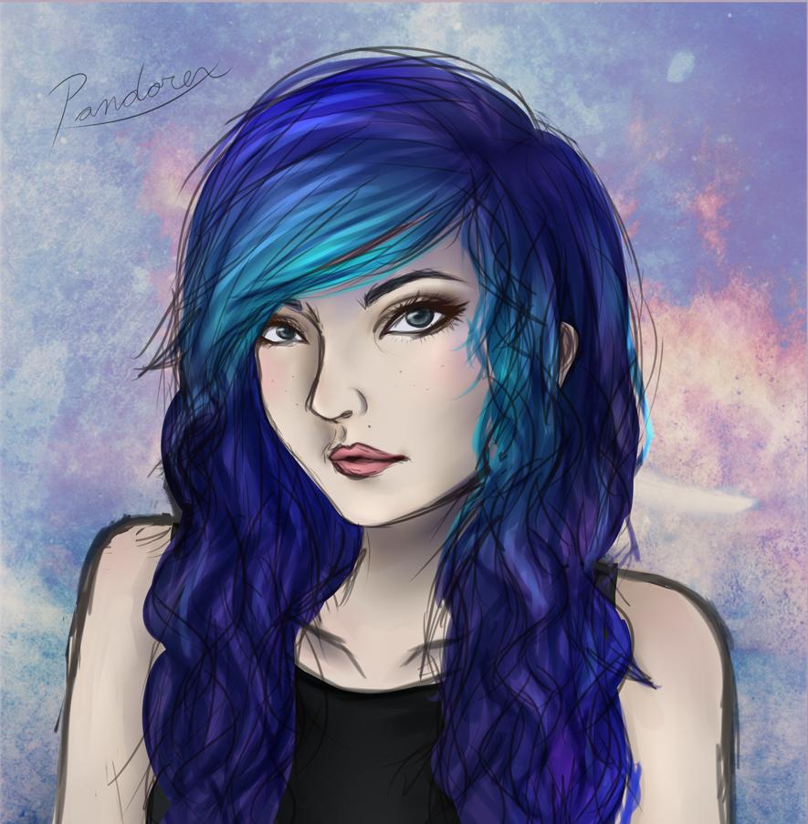 Purple And Blue by Pandorex