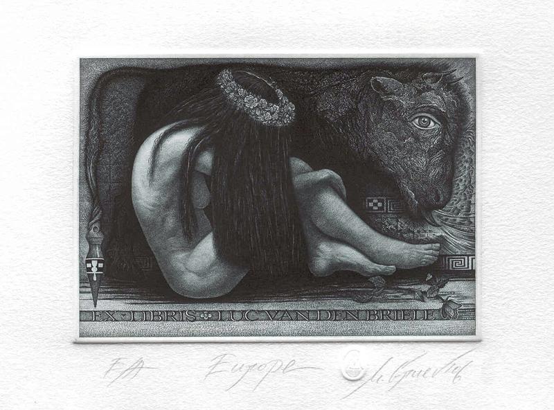 Ex Libris Luc Van Den Briele by mgruev
