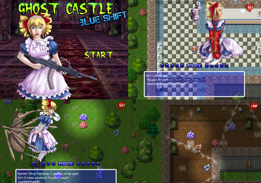 Ghost Castle BLUE SHIFT (full game) By Nidichka