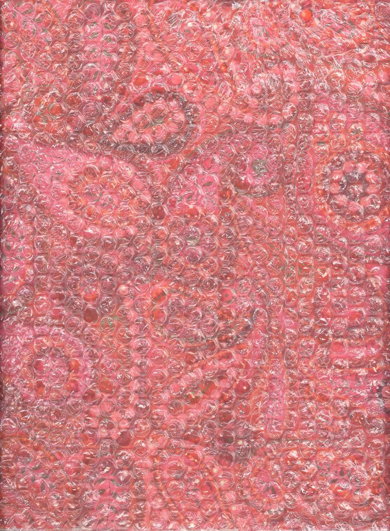 Pink Swirl Under Bubble Wrap by Techture
