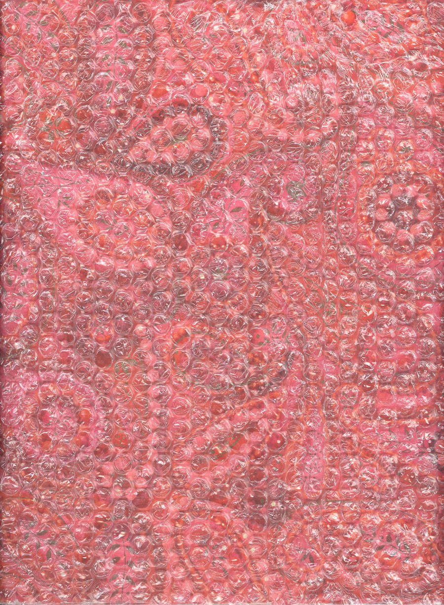 Pink Swirl Under Bubble Wrap by Techture