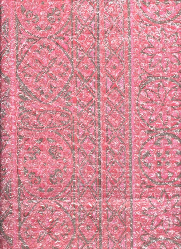 Pink Paper under Bubblewrap by Techture