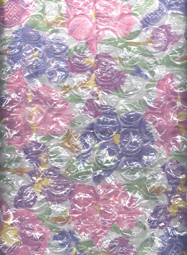 floral under large bubblewrap by Techture