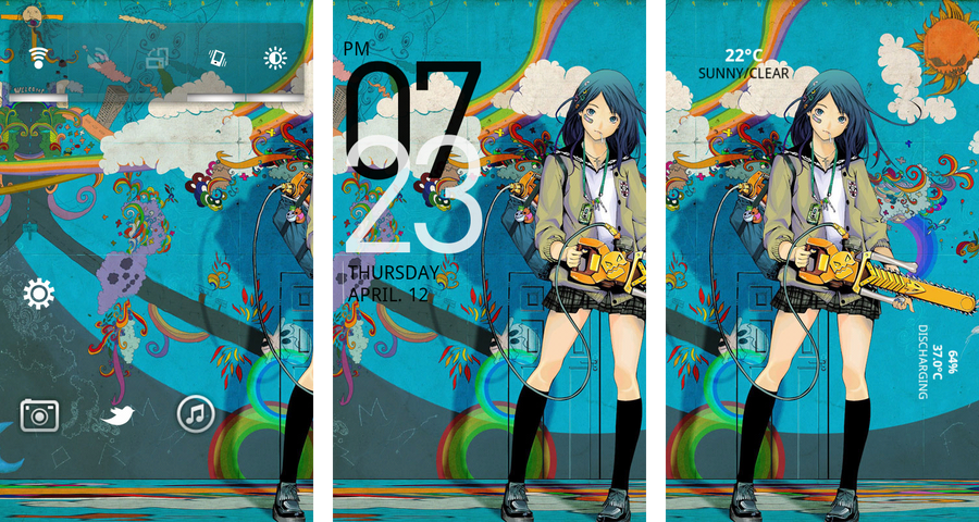 Chainsaw Anime Girl Theme For Android By Parhelion318 On