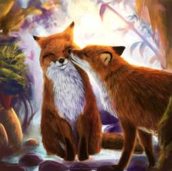 Foxes by TatyanaChugunova
