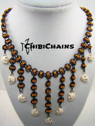 Necklace - Barrel with Skulls