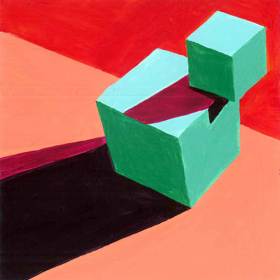 Split Complementary Color Paintings