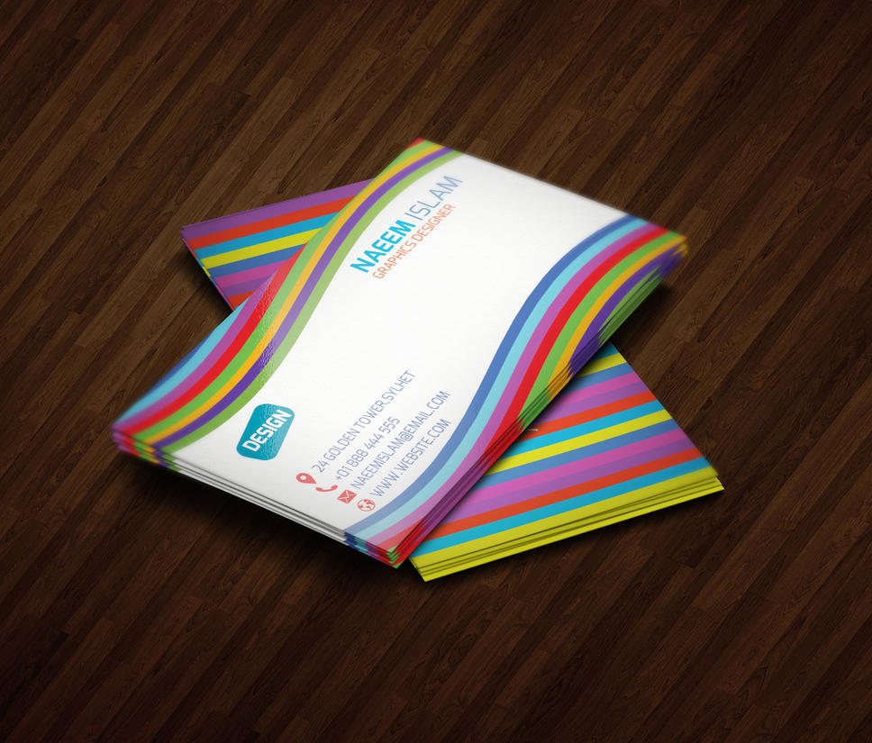 Rainbow style business card by naeem1200 on deviantart rainbow style business card by naeem1200 reheart Images