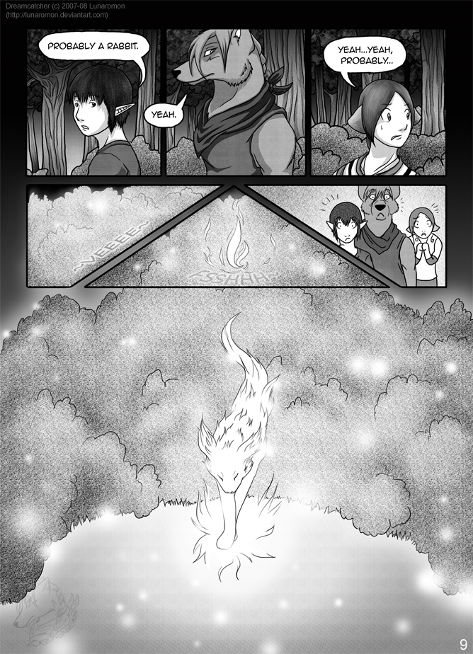 Dreamcatcher Chap. 4: Pg. 9 by Lunaromon