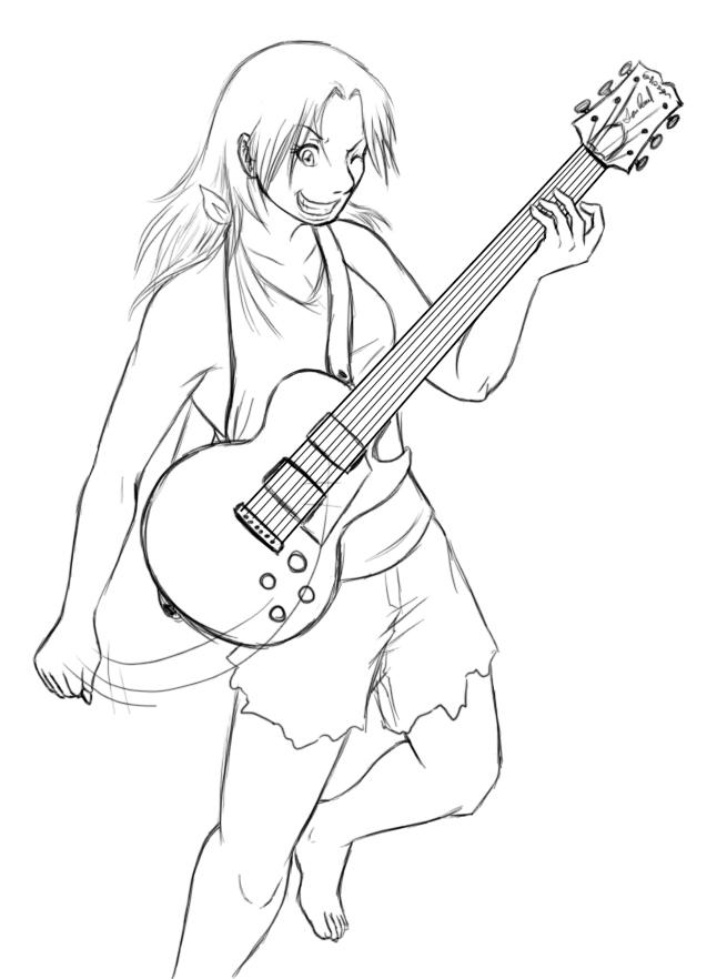 Allie Sketch by Lunaromon