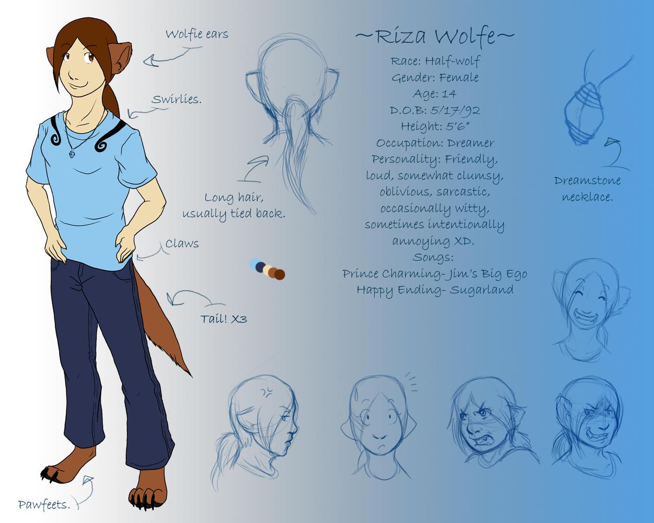 Riza- Ref Sheet by Lunaromon