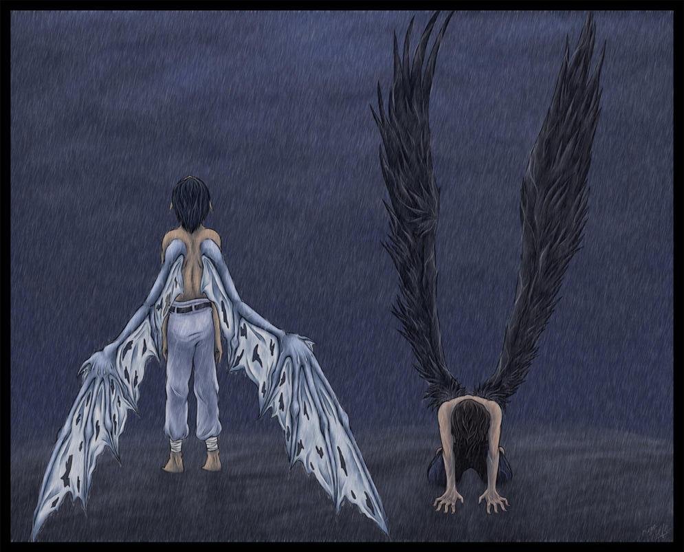 Rising Demon, Fallen Angel-- by Lunaromon
