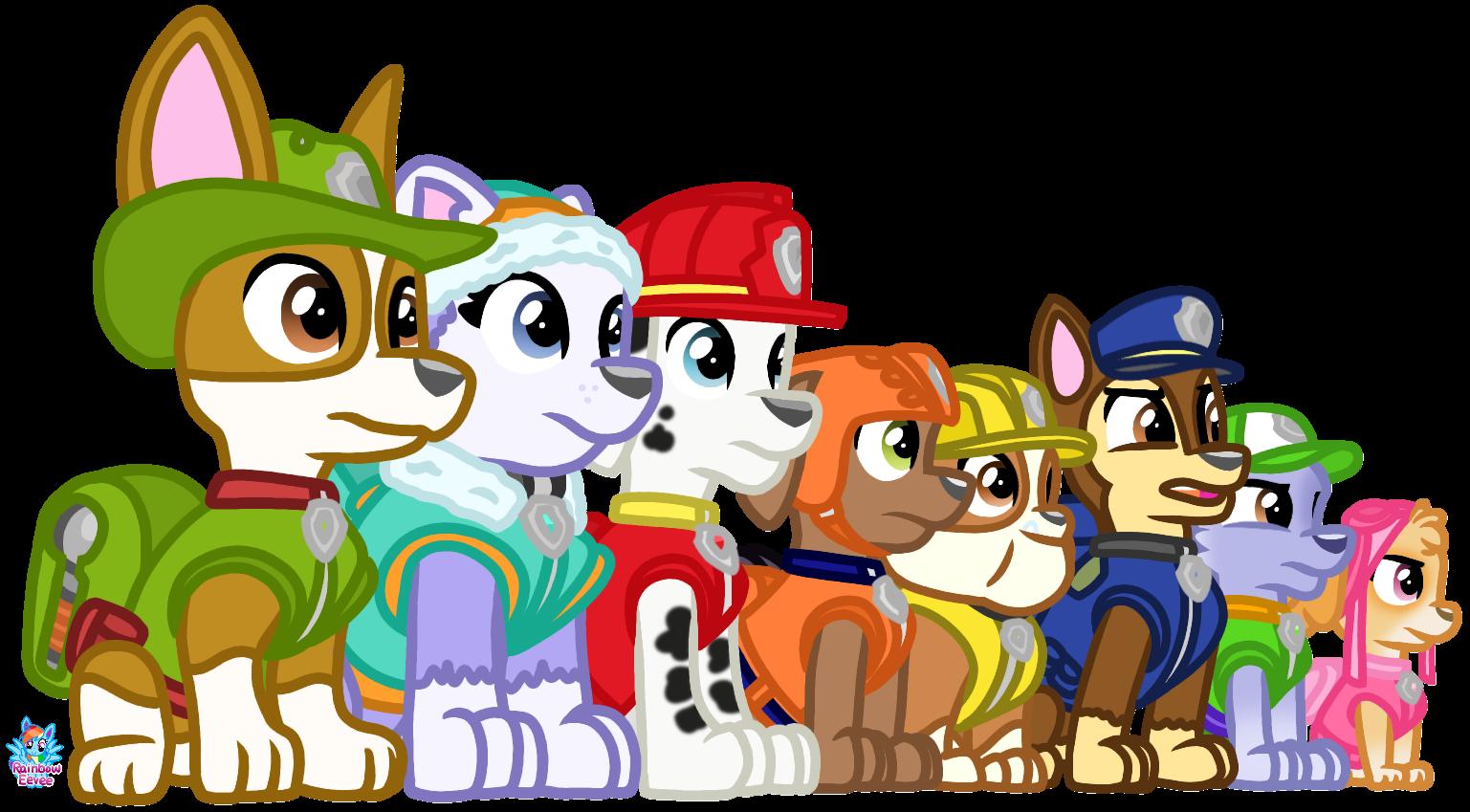 the paw patrol complete by rainboweevee da on deviantart the paw patrol complete by rainboweevee
