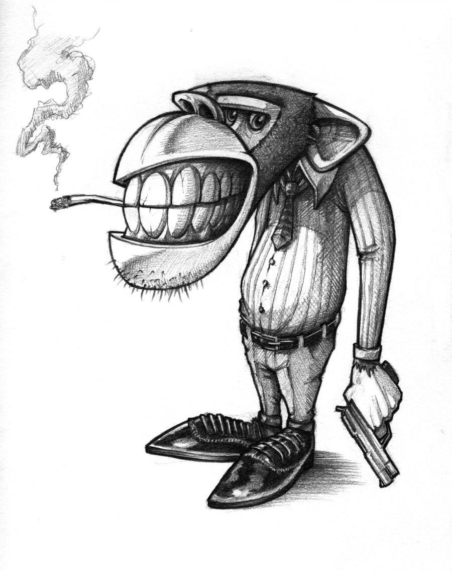 Gangster Chimp by DeadPea on DeviantArtGangsta Artwork