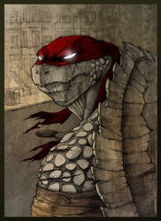 Raphael TMNT 3 by DeadPea