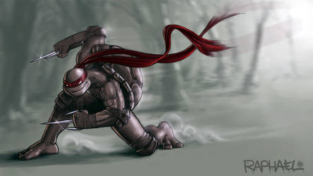 Raphael TMNT 4 by DeadPea