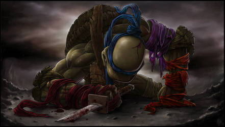 *LEONARDO* goodbye, my brothers... by DeadPea