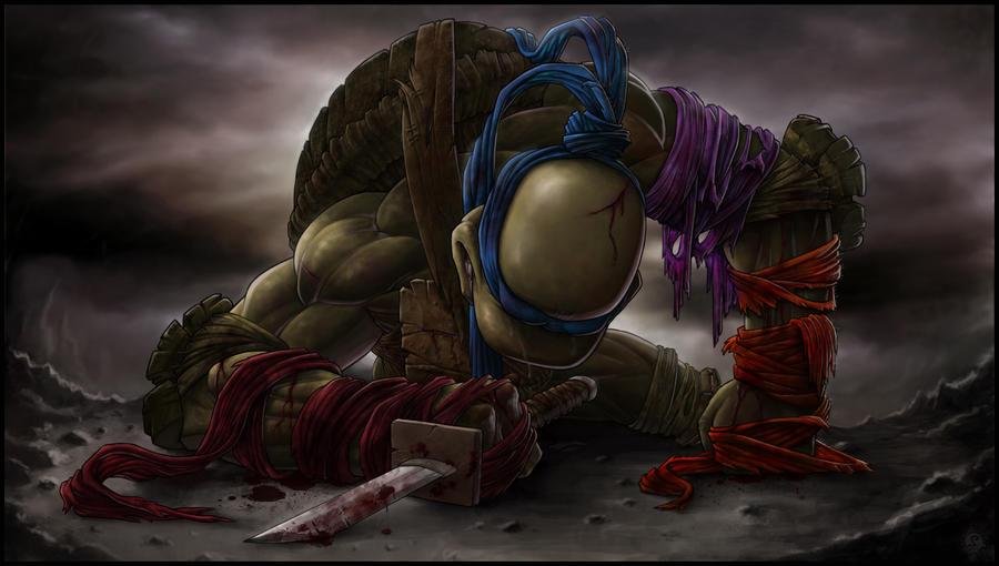 *LEONARDO* goodbye, my brothers... by DeadPea