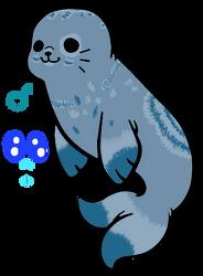 My new (yet unnamed) seal fursona! by Spirit-ulf