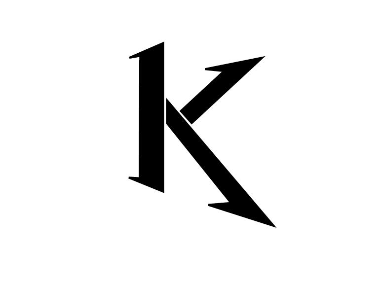 Tattoo Lettering Letter K