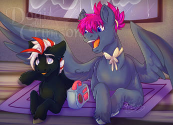 :p: - Just how loud is that music by Dogi-Crimson