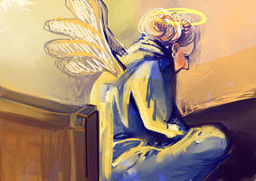 His bedside angels are always close