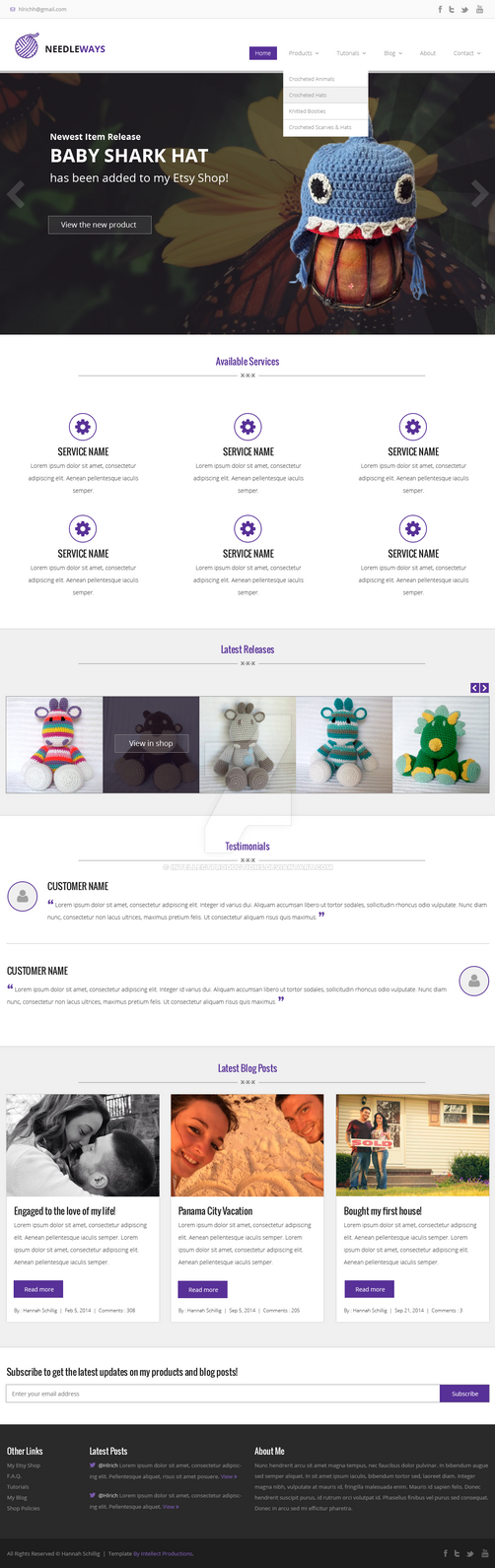 Crochet-webdesign Copy by IntellectProductions