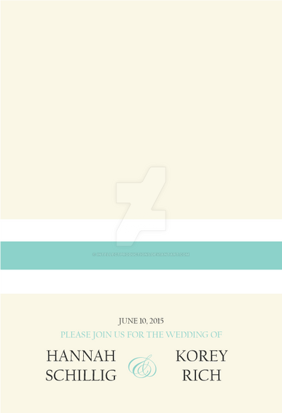 Hannah's Wedding Invitation Front by IntellectProductions