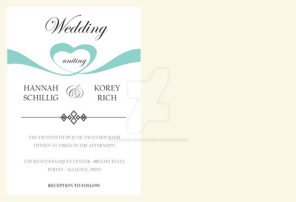 Hannah's Wedding Invitation Inside by IntellectProductions