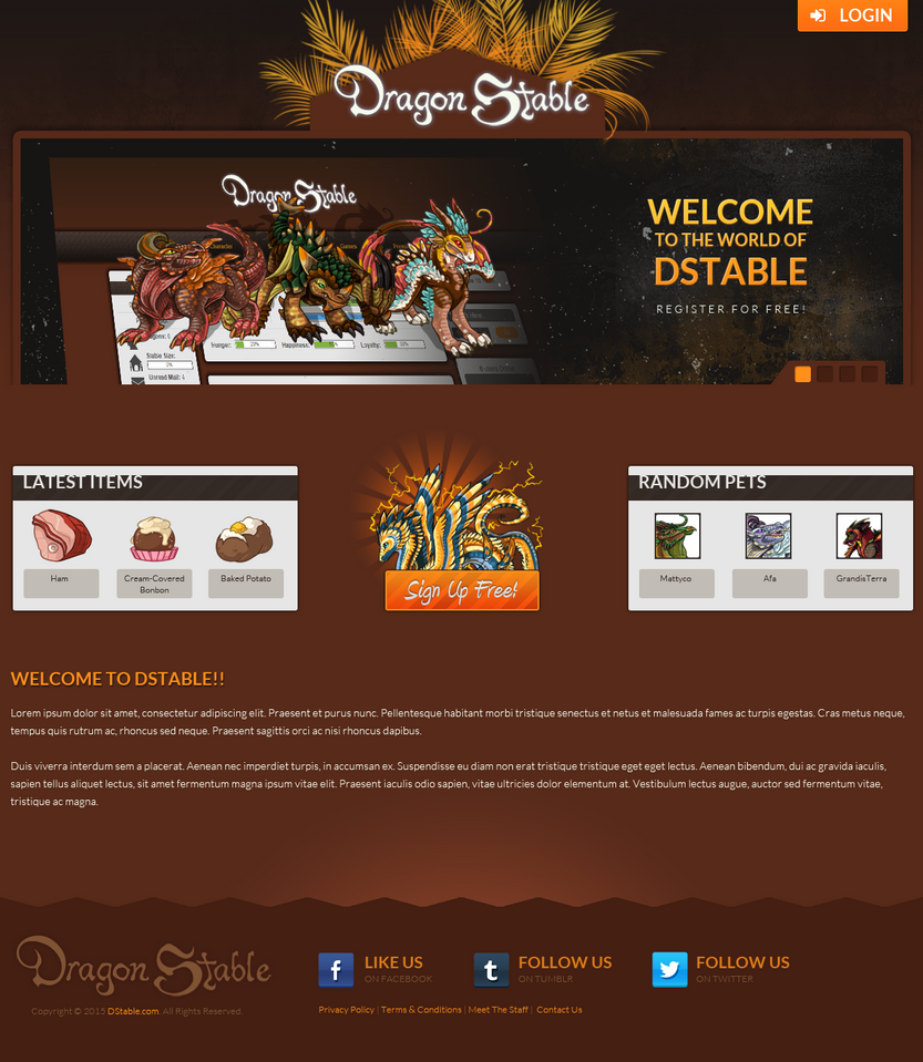 DStable Splash Page by IntellectProductions