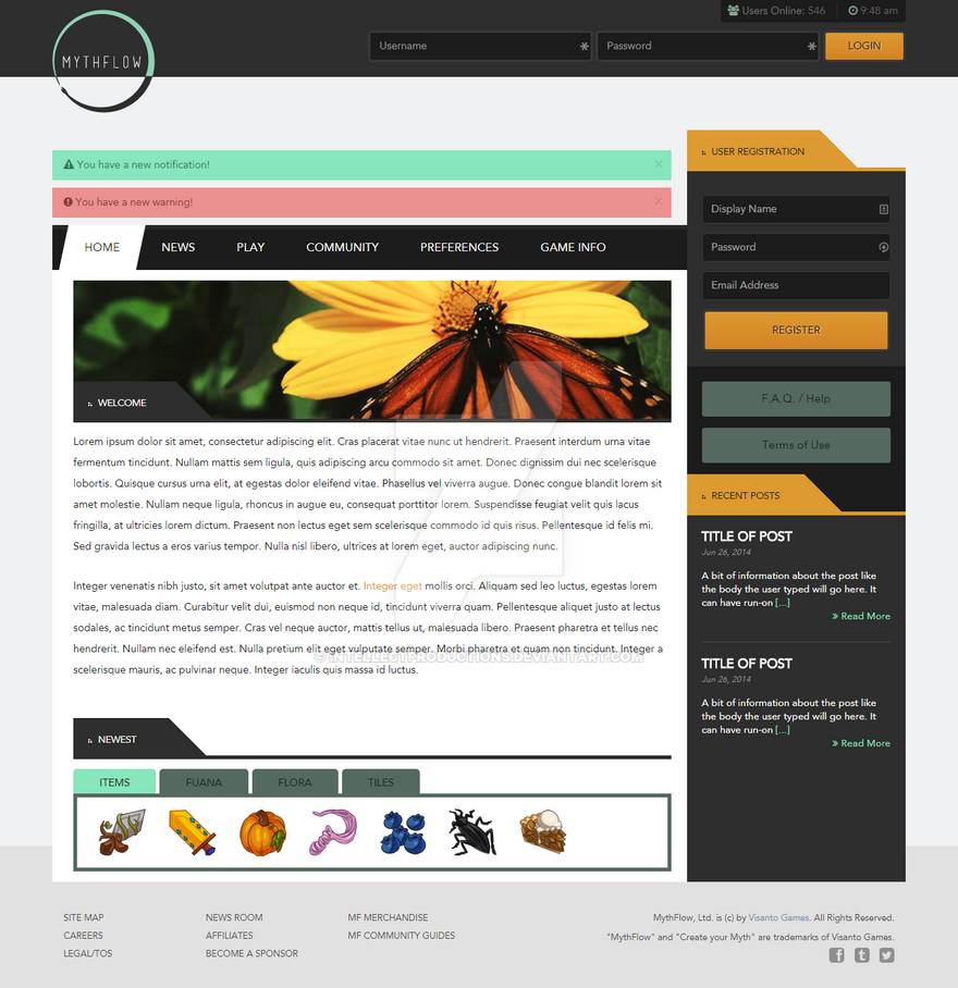 Mythflow Web Design by IntellectProductions