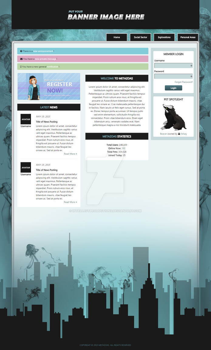 Metazoas Web Design by IntellectProductions