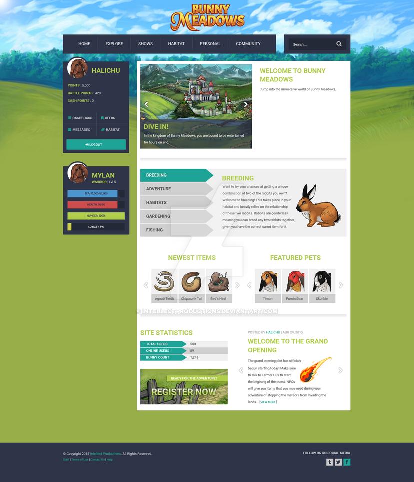 Bunny Meadows Web Design by IntellectProductions
