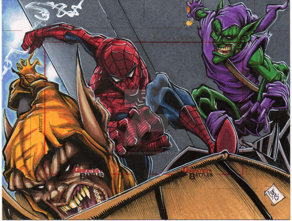 Spiderman MGB Sketch Card Artist Proof by chris-foreman