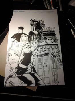 10th Doctor Who David Tennant Print WIP
