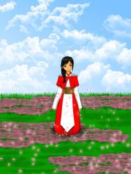 Zee on the flower field by jabrig-pathetic