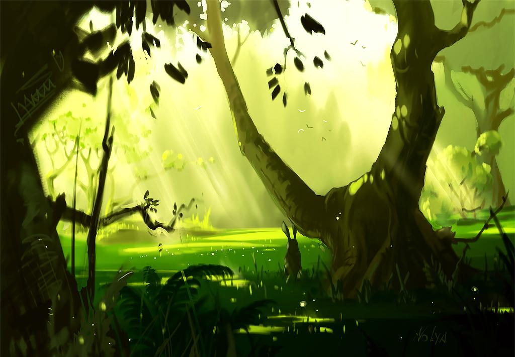 spring forest by DoomVolya