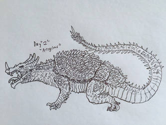 Monster March Day 2 - Anguirus by Apgigan