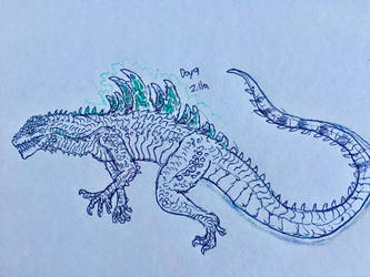 Monster March Day 9 - Zilla by Apgigan
