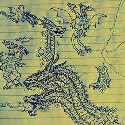 Bored Drawing #88 - The Devil Himself  by Apgigan