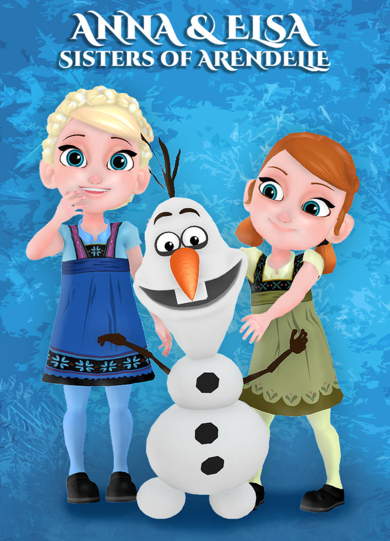 olaf the snowman with elsa and anna by sventv on deviantart. Black Bedroom Furniture Sets. Home Design Ideas