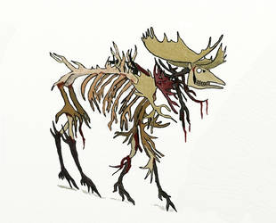 The King of Bone coloured by dymphnawolf