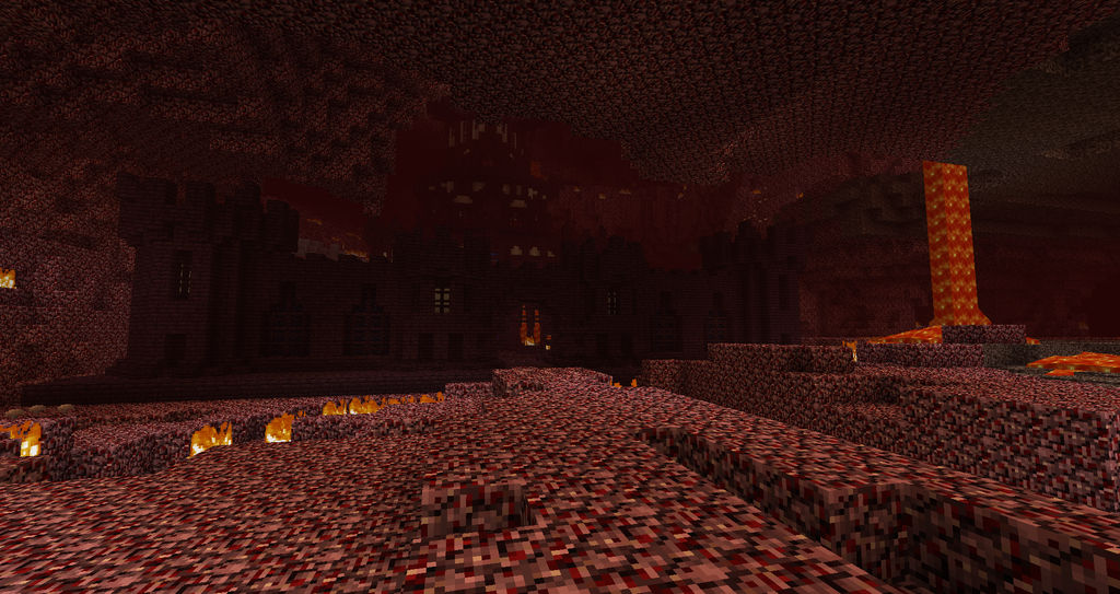 Minecraft Nether Fortress outer wall by Zay13 on DeviantArt