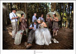 Bridal Party in the forest