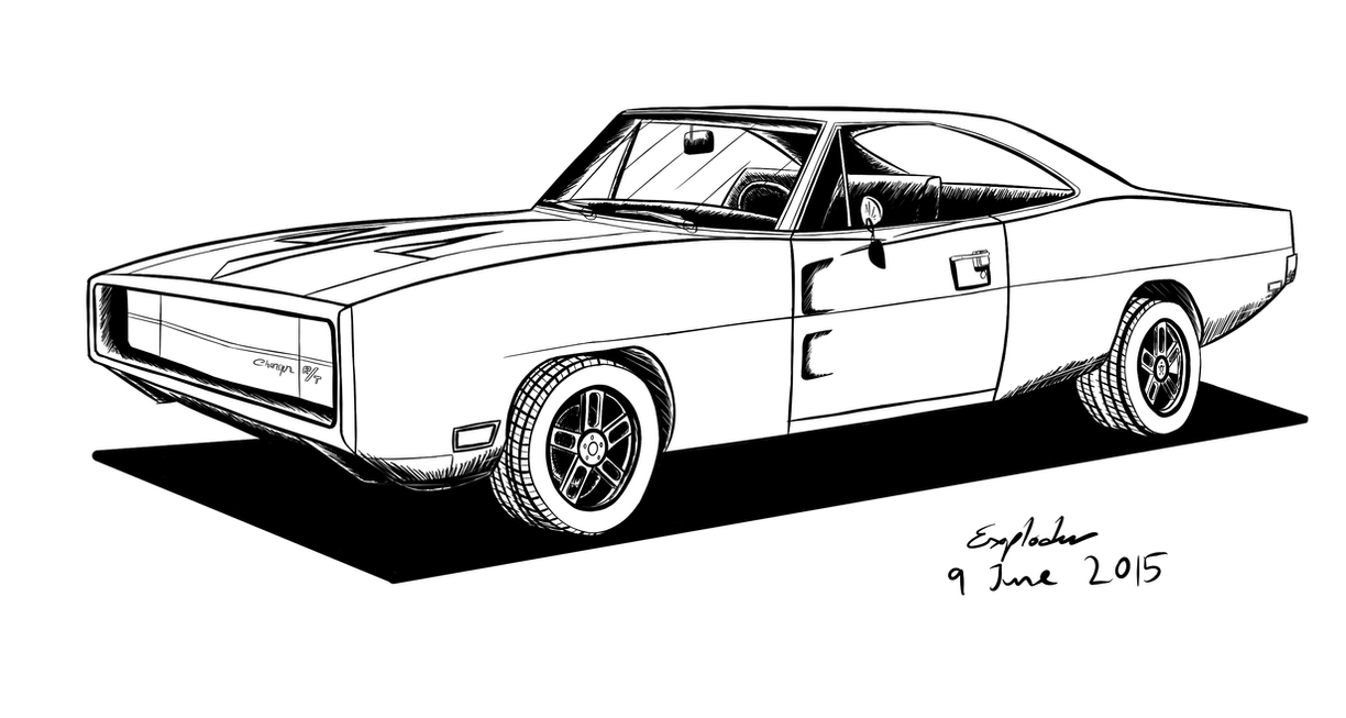 Dodge Charger Coloring Pages