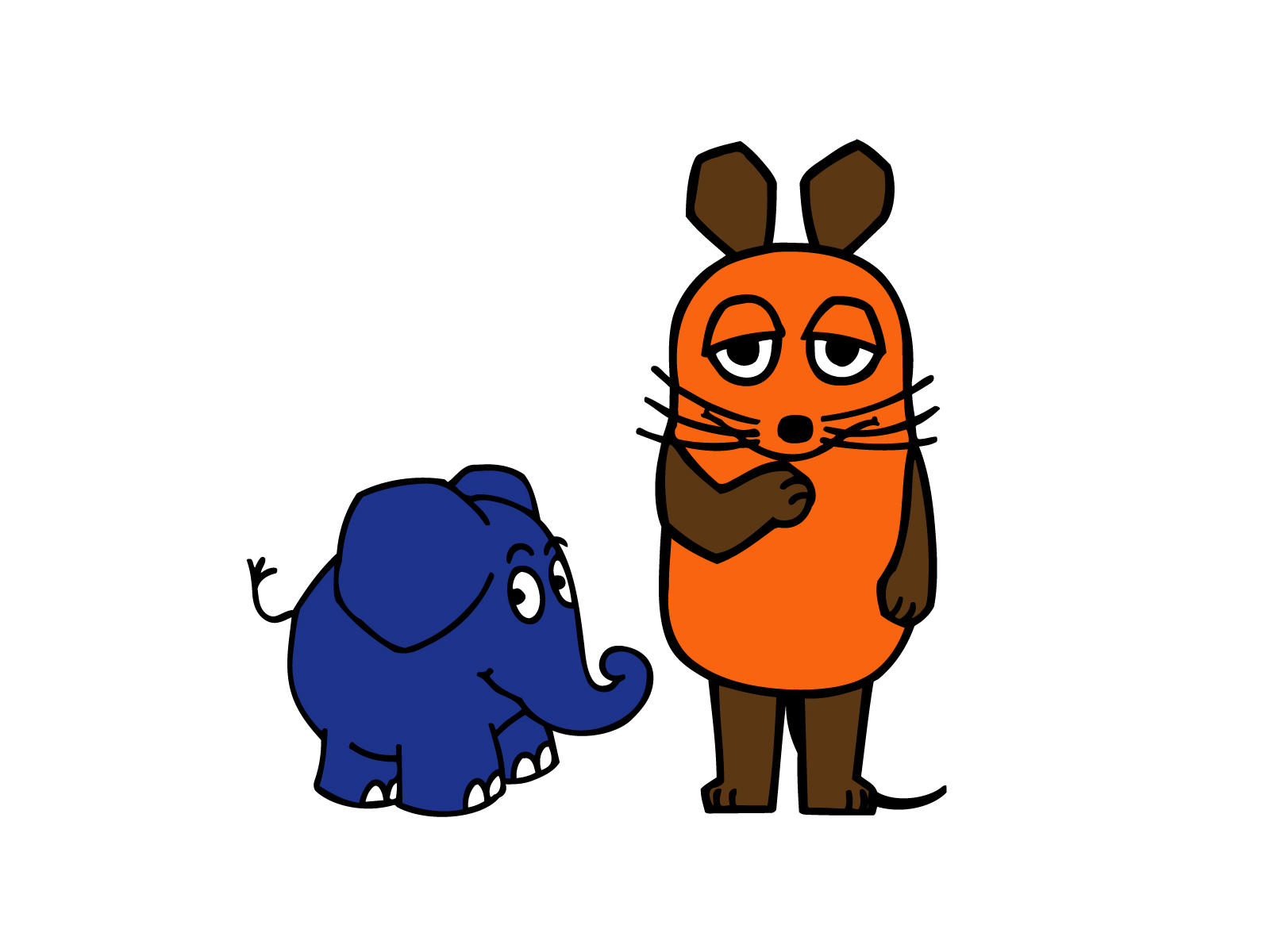 Maus und Elefant w by rooot