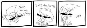 A MARIO EATS SOME ANTS CARTOON