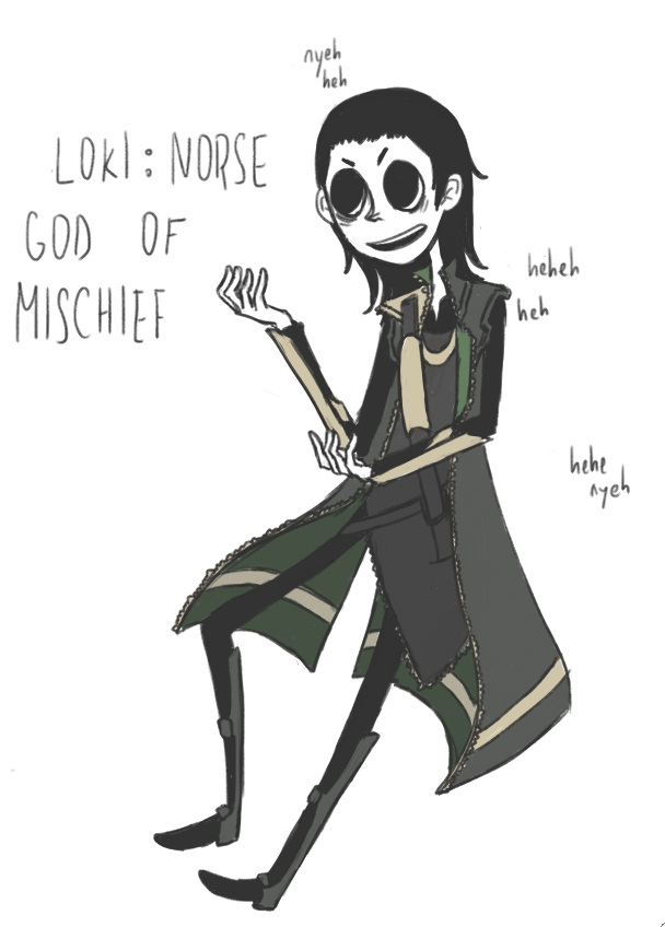 norse god of mischief by sodaapop101 on DeviantArt