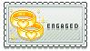Engaged Stamp by Mayla-Maraju